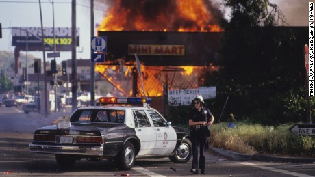 LA Riots 1992 (Photo by Mark Downey Lucid Images/Corbis via Getty Images)