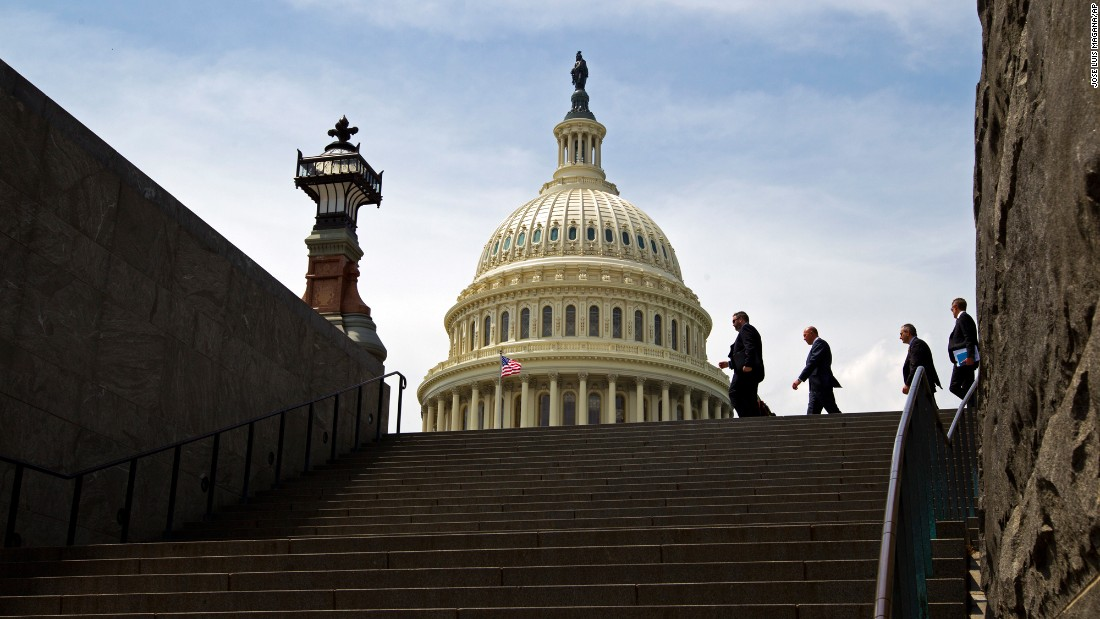 "People walk near the US Capitol on Thursday, April 27. Congress voted on a bill to keep the federal government open for another week, <a href=""http://www.cnn.com/2017/04/28/politics/government-shutdown-vote/"" target=""_blank"">averting a shutdown</a> while negotiators hammer out a broader deal to fund agencies through September. <a href=""http://www.cnn.com/2017/04/22/politics/gallery/week-in-politics-0422/index.html"" target=""_blank"">See last week in politics</a>"