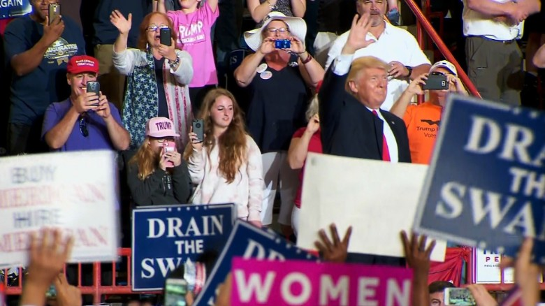 Trump calls out man's 'blacks for Trump' sign