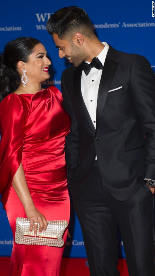 """The Daily Show"" correspondent Hasan Minhaj and his wife, Beena"