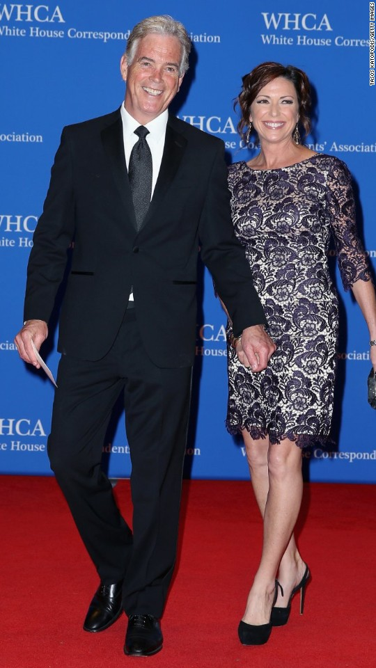 CNN correspondent Kyra Phillips and her husband, Fox News chief White House correspondent John Roberts, walk the red carpet before the annual White House Correspondents' Dinner on Saturday, April 29.