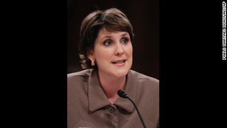 Charmaine Yoest testifies in 2010 before the Senate Judiciary Committee hearing for Supreme Court nominee Elena Kagan.