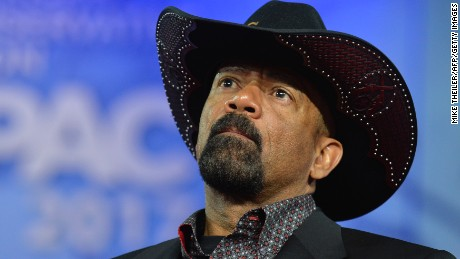 Controversial Milwaukee Sheriff David Clarke faces protests Monday