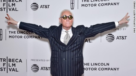 "Political consultant Roger Stone attends the ""Get Me Roger Stone"" premiere during the 2017 Tribeca Film Festival on April 23, 2017 in New York City."