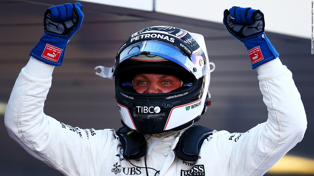Bottas was chased hard by Ferrari's Sebastian Vettel but held off the German's challenge to claim a maiden win in his 81st F1 race start. Bottas joins an elite group of Finns -- Mika Hakkinen, Kimi Raikkonen, Heikki Kovalainen and Keke Rosberg -- who have won an F1 grand prix.
