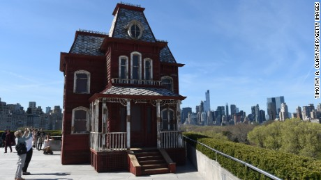 """PsychoBarn"" by British artist Cornelia Parker,  for The Metropolitan Museum of Art's Iris and B. Gerald Cantor Roof Garden."