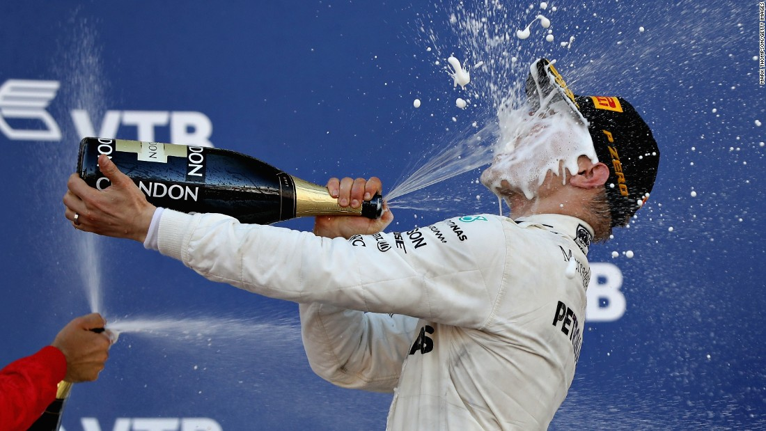 "Formula One driver Valtteri Bottas celebrates after winning the Russian Grand Prix on Sunday, April 30. It was <a href=""http://www.cnn.com/2017/04/30/motorsport/russian-gp-valtteri-bottas-mercedes/index.html"" target=""_blank"">the first victory</a> of his F1 career."