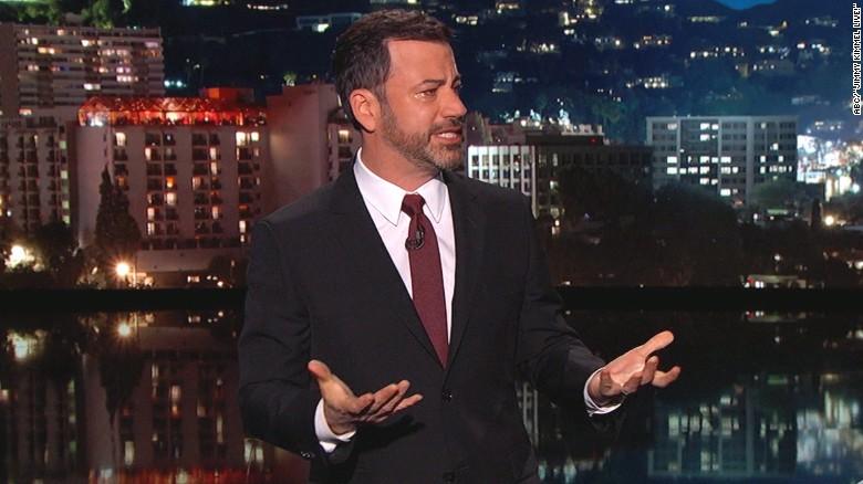 Kimmel chokes up over newborn's health