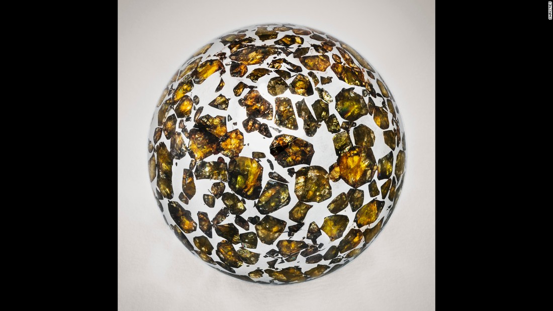 A Seymchan meteorite sphere, Pallasite, Magadan District, Russia. Estimated at  $12,000- $18,000
