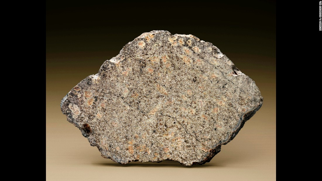 NWA 7397, a meteorite from Mars, Sahara Desert, Morocco, estimated at $30,000 - $50,000