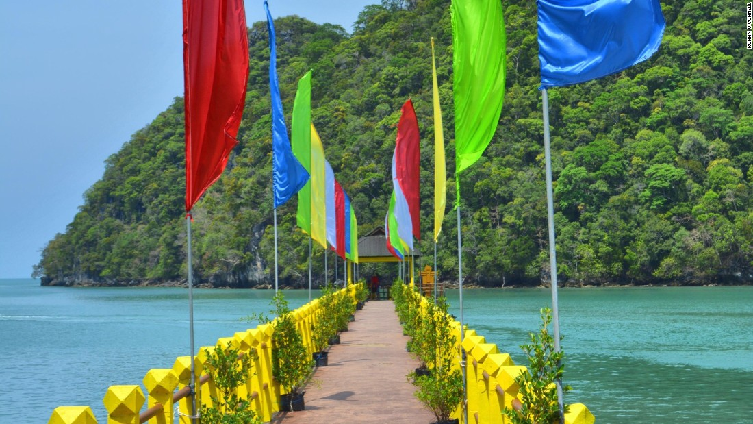<strong>Langkawi landscape: </strong>The main jetty at Dayang Bunting island.
