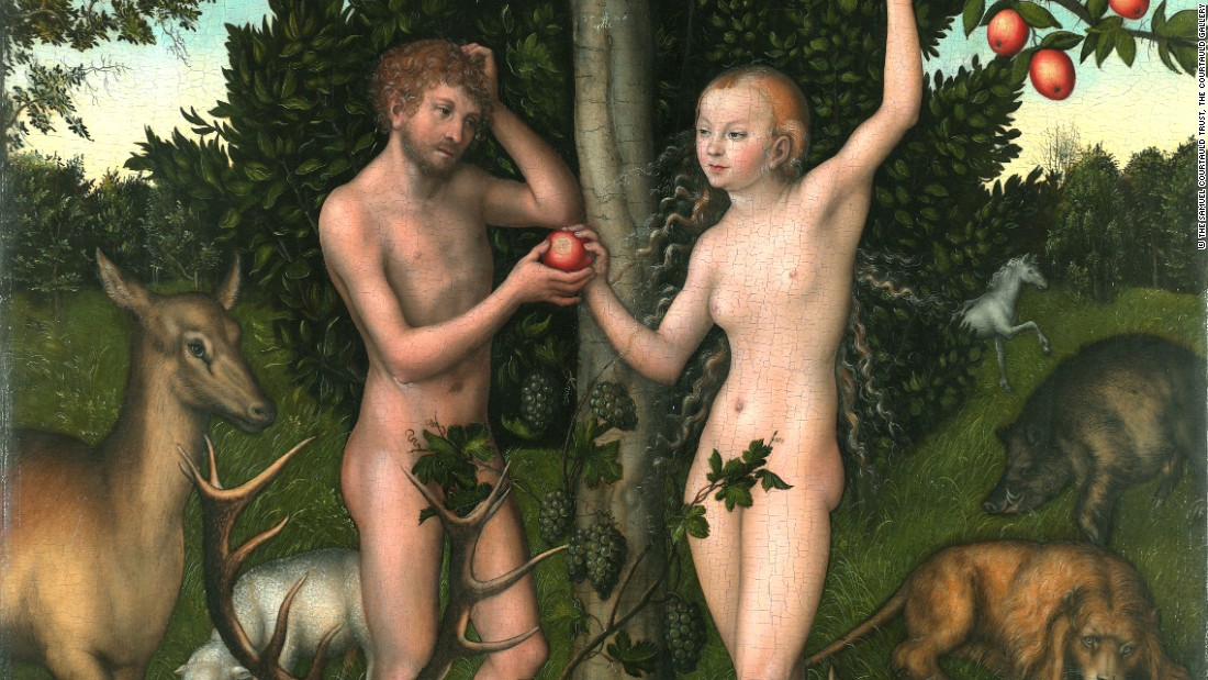 Adam and Eve, by Lucas Cranach the Elder. Courtesy The Samuel Courtauld Trust.
