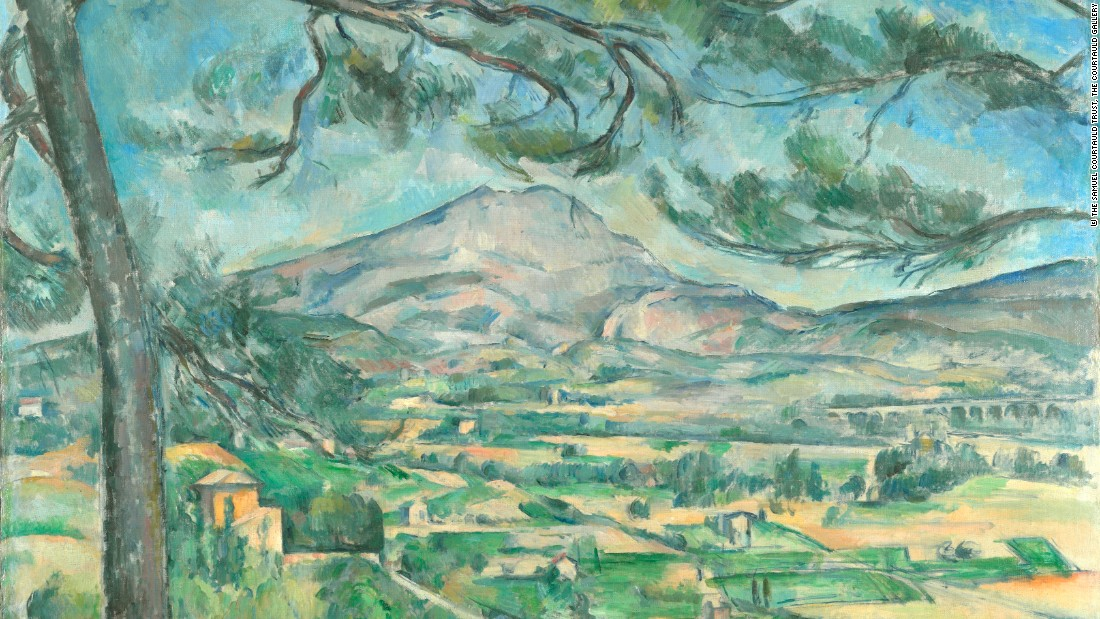 Montagne Sainte-Victoire with Large Pine, by Paul Cézanne. Courtesy The Samuel Courtauld Trust.