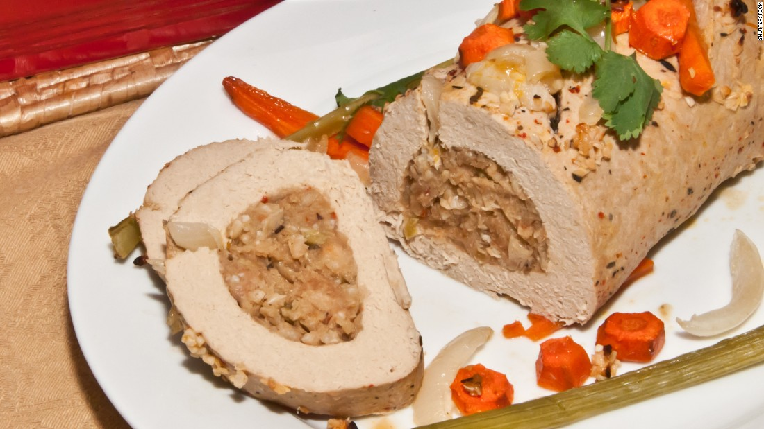"""Turkey"" made from tofu or seitan -- often sold under the Tofurky brand -- is especially popular around the holidays."