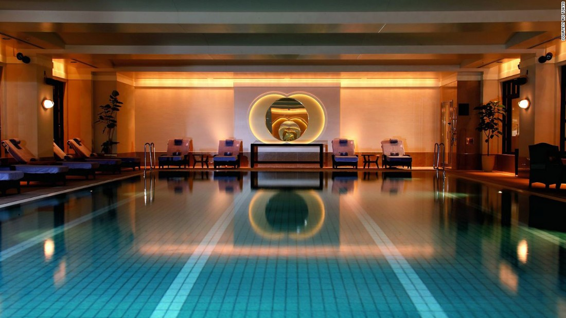 <strong>Ritz-Carlton Tokyo: </strong>Even the lap pool at The Ritz-Carlton Tokyo Spa & Fitness Center reflects the property's Zen vibe.