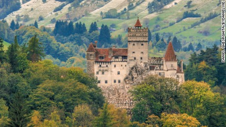 Bran Castle outside Bucharest is the setting for Dracula's home in the novel by Bram Stoker.