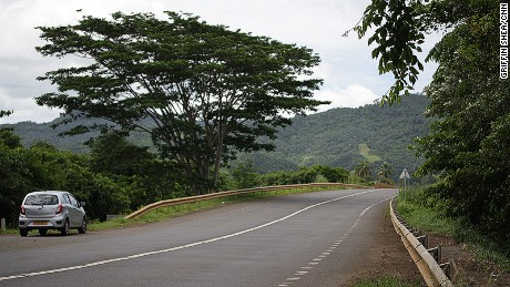 While searching for the lost continent, you'll drive through the scenic B28 highway.