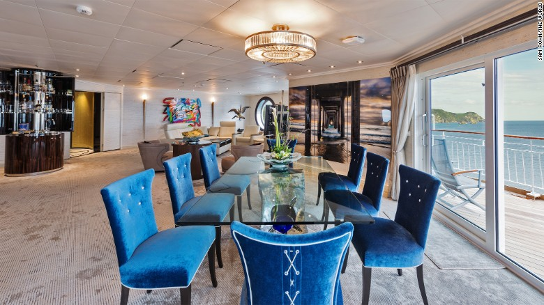 All interior designs for apartments on board the ship  must be approved by a committee before being executed.