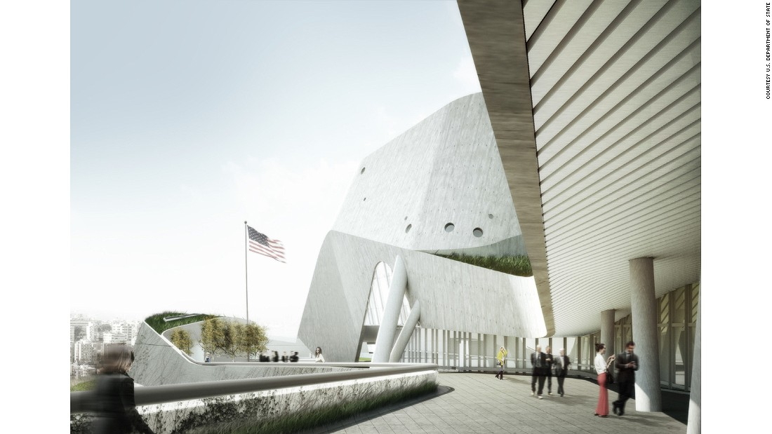Morphosis Architects, led by award-winning architect Thom Mayne, designed the new, $1-billion embassy in Beirut, Lebanon. Ground was broken on the facility in late April 2017.