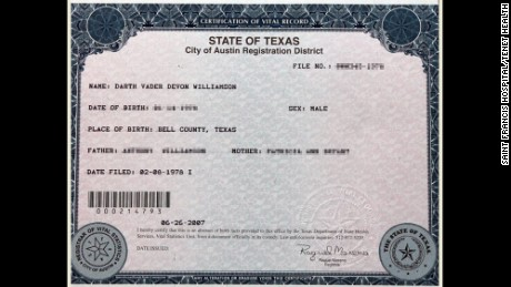 Need proof? Here's Williamson's birth certificate.
