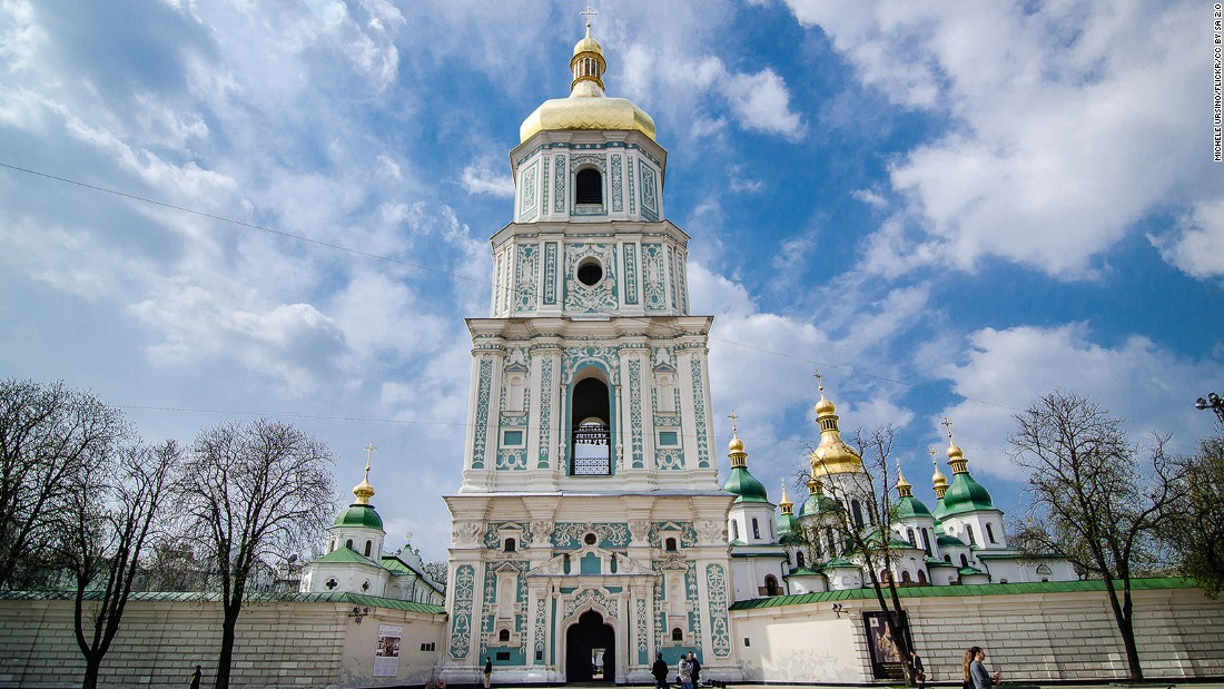 <strong>St. Sophia's Cathedral, Kiev:</strong> St. Sophia's Cathedral is one of Kiev's UNESCO World Heritage sites alongside Kiev Pechersk Lavra (Monastery of the Caves). Photo: Michele Ursino/Flickr.