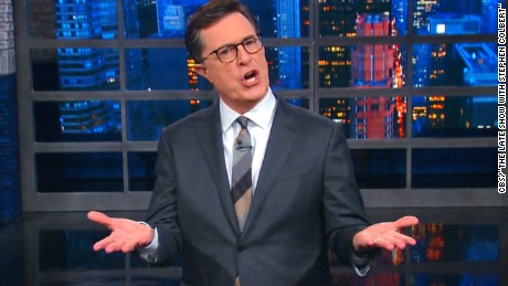 Stephen Colbert responds to #FireColbert