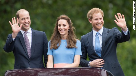 "Prince William, Duke of Cambridge, Catherine, Duchess of Cambridge and Prince Harry during ""The Patron's Lunch"" celebrations for The Queen's 90th birthday."
