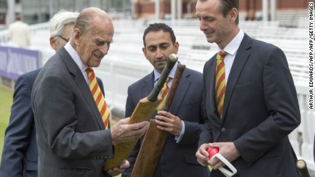 Britain's Prince Philip, Duke of Edinburgh, opens the new Warner Stand at Lord's cricket ground.