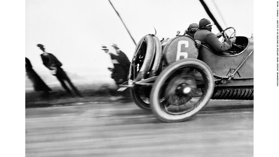 """<a href=""http://thephotographersgallery.org.uk/jacques-henrilartigue"" target=""_blank"">Jacques Henri Lartigue</a> hadn't even reached his 20th birthday when he took this photo in 1912, during the Grand Prize of the Automobile Club de France. He was not satisfied with this picture at the time because it was blurry, distorted and poorly composed, according to the standards of the time, with the car cut off at the right hand side of the image. It has since become a seminal image in the history of twentieth century photography, its immediacy and dynamism a visual expression of modernity."""