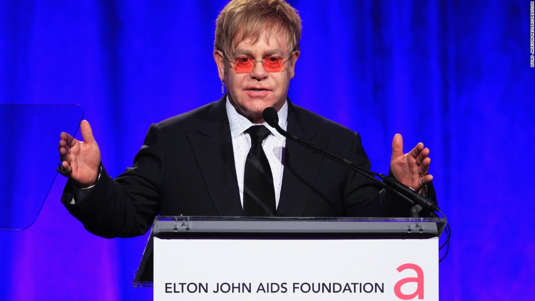 "Musician Elton John has said he ""took chances with unprotected sex"" in the 1980s and is lucky to have avoided the AIDS epidemic. He founded the Elton John AIDS Foundation in 1992 to raise awareness and funds for HIV/AIDS treatment and prevention. The star began hosting his annual Academy Awards party in 1993, which has become one of the highest-profile Oscar parties in the film industry, and has used the gathering to raise over $200 million for the organization."