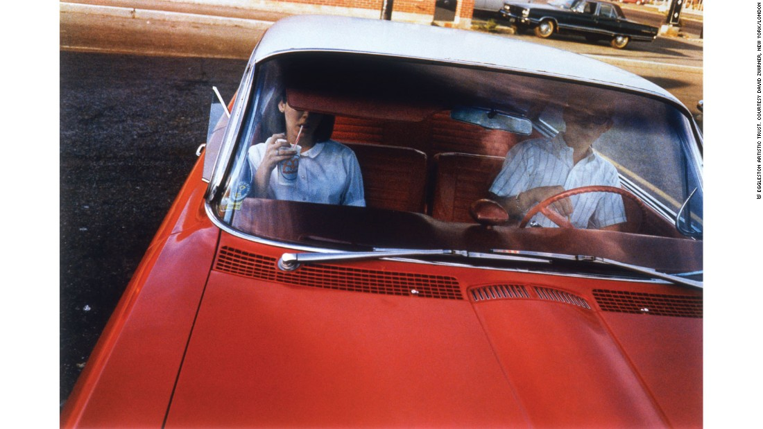 """The car has often been a subject in the work of <a href=""http://www.egglestontrust.com/"" target=""_blank"">William Eggleston</a>. Perhaps this has something to do with what he calls his 'democratic' approach to photography and his fascination for everyday subjects. In our exhibition, we have selected a series of photographs from his 'Los Alamos' series. He took these pictures on various road trips he made throughout the southern states between 1965 and 1973 with the curator and museum director Walter Hopps. They passed through Memphis, New Orleans, Los Alamos and Santa Monica."""