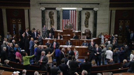 Democrats sing 'Goodbye' after vote