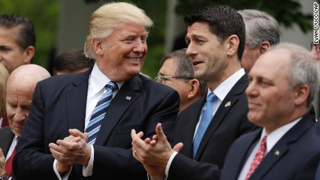 Trump celebrates with House GOP after health bill passes