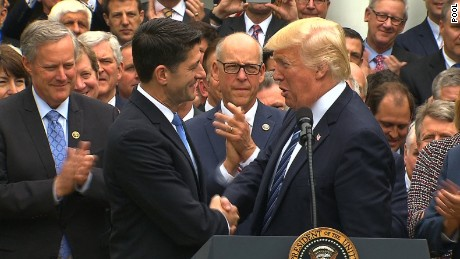 Trump, GOP leaders celebrate health care win