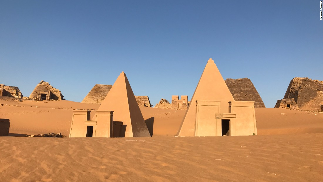 These pyramids date back to the Kingdom of Kush, a major power between the 8th century B.C. and the 4th century A.D.