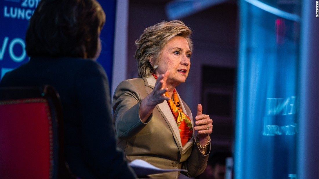 "Hillary Clinton speaks with CNN's Christiane Amanpour during a sit-down interview in New York on Tuesday, May 2. During the interview, which was part of an event for the nonprofit group Women for Women International, <a href=""http://www.cnn.com/2017/05/02/politics/hillary-clinton-donald-trump/"" target=""_blank"">Clinton touched on many topics,</a> including misogyny, President Trump, the media and Russian interference in the 2016 election."