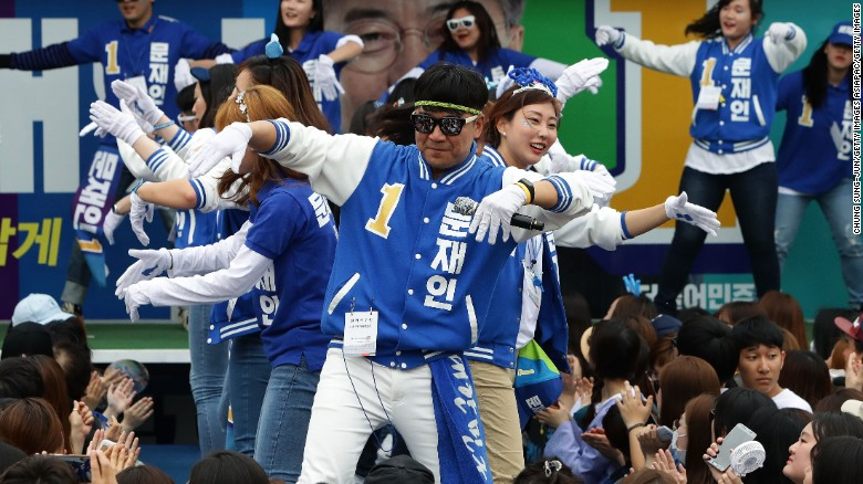 Song and dance in South Korean election