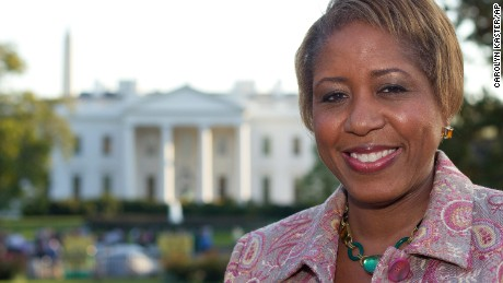 Angella Reid poses in front of the White House in 2011, weeks before she became White House chief usher.