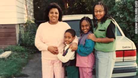 Rahel Musa Aron poses with her daughters in the mid-1990s. The FGM survivor did not subject her children to the practice, which her mother and grandmother had undergone.