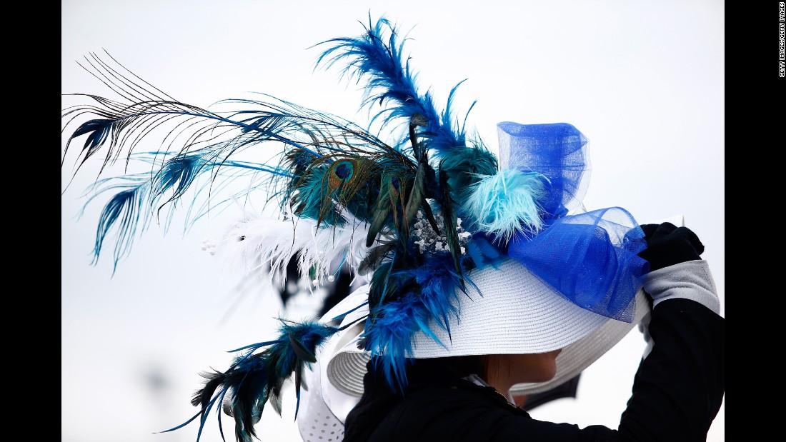 "Feathers and ribbons are common decorations on derby hats. <a href=""http://www.cnn.com/2016/05/07/style/gallery/2016-kentucky-derby-hats/index.html"" target=""_blank"">See fancy hats from last year's race</a>"