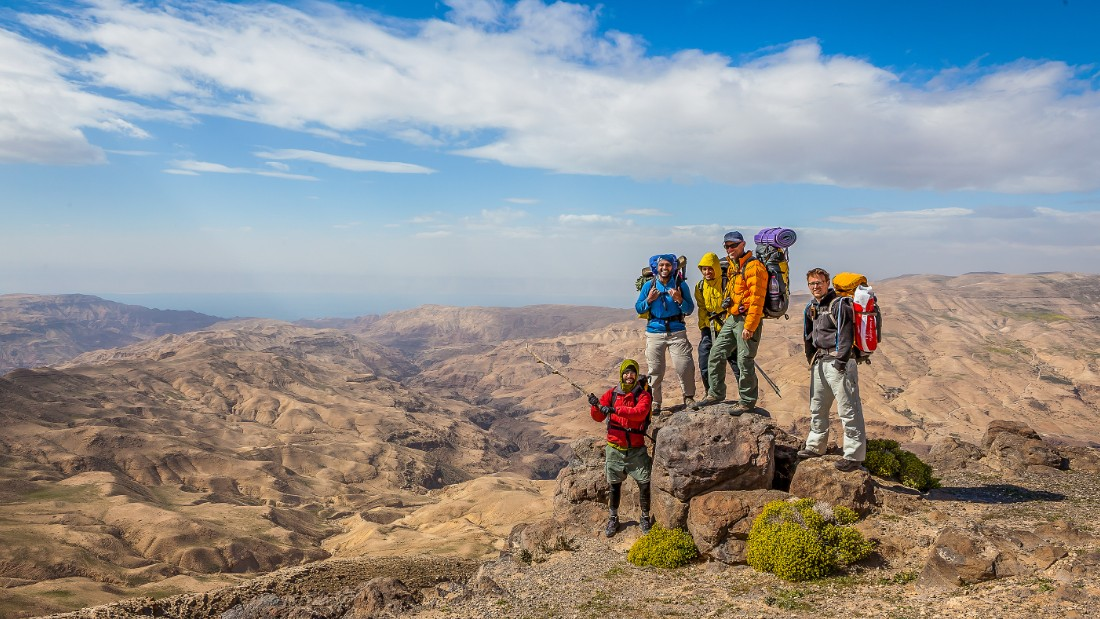 "<strong>Widescreen panoramas: </strong>Wadi Mujib is known as the ""Grand Canyon of Jordan."" It's one of the highlights of the trail, which opened in February 2017."