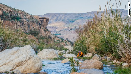 The vast Wadi Hassa in western Jordan drains into the Dead Sea.