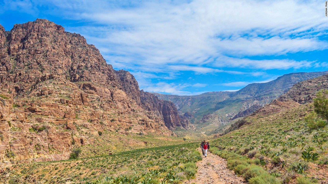 <strong>Changing landscape: </strong>Wadi Feynan drains into the Dead Sea via Wadi Araba. Hikers on the trail move through four ecosystems, defined by lush and fertile valleys in the north, then on to rugged canyons and finally towards the famed Wadi Rum desert in the south.