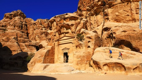 The route passes through historical sites such as Little Petra and the much-celebrated rock-hewn Petra itself.