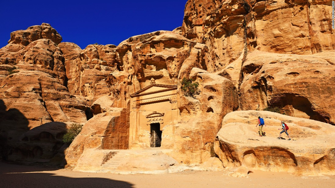 <strong>Rock city: </strong>Little Petra sits to the north of Petra and is a similar Nabatean site with buildings carved into the walls of sandstone cliffs.