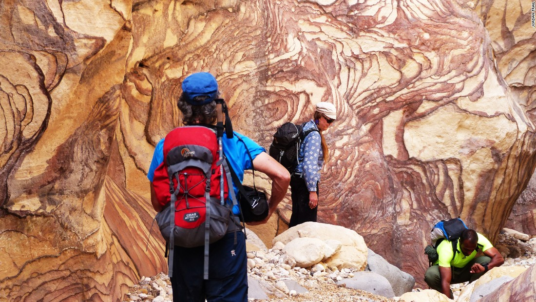 <strong>Into the landscape: </strong>Trekking through Petra offers walkers the chance to get close to the spectacular rock formations and colors.
