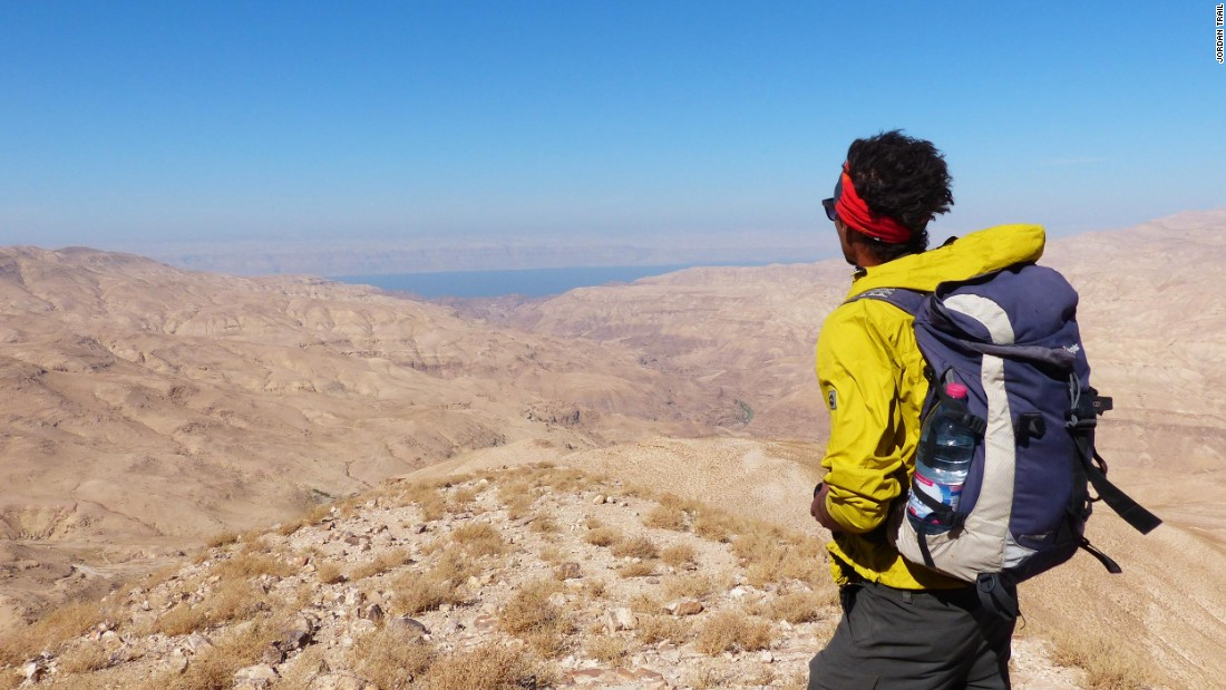 <strong>End of the journey: </strong>After roughly 40 days and 40 nights on the trail, Aqaba and the Red Sea emerge at the southern end of the Jordan Trail.