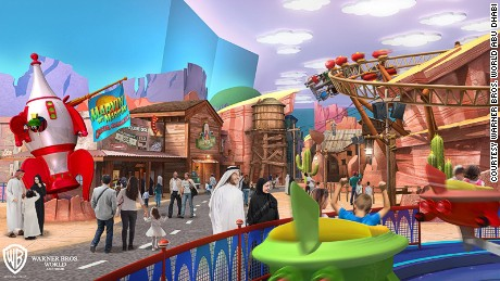 Warner Bros. World Abu Dhabi will likely draw inspiration from Looney Tunes cartoons and DC Comics.