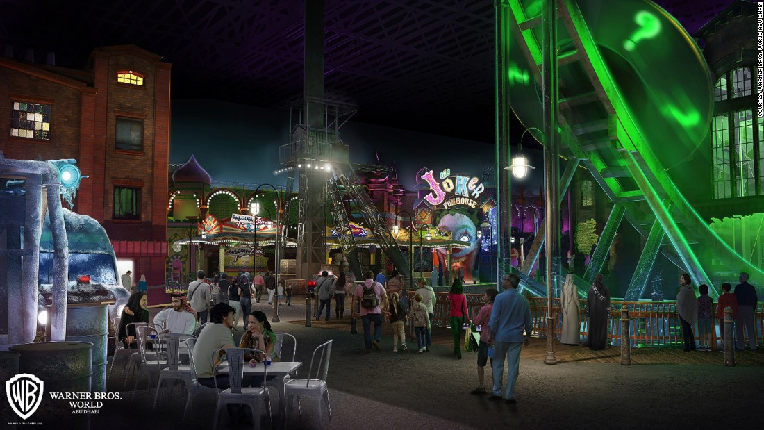 <strong>Warner Bros. World (Abu Dhabi): </strong>One of two new prestige properties planned for Abu Dhabi's Yas Island -- SeaWorld is the other one -- this indoor park's rides and attractions are likely to draw inspiration from DC Comics (like Gotham City in this rendering) and Looney Tunes cartoons, among others.