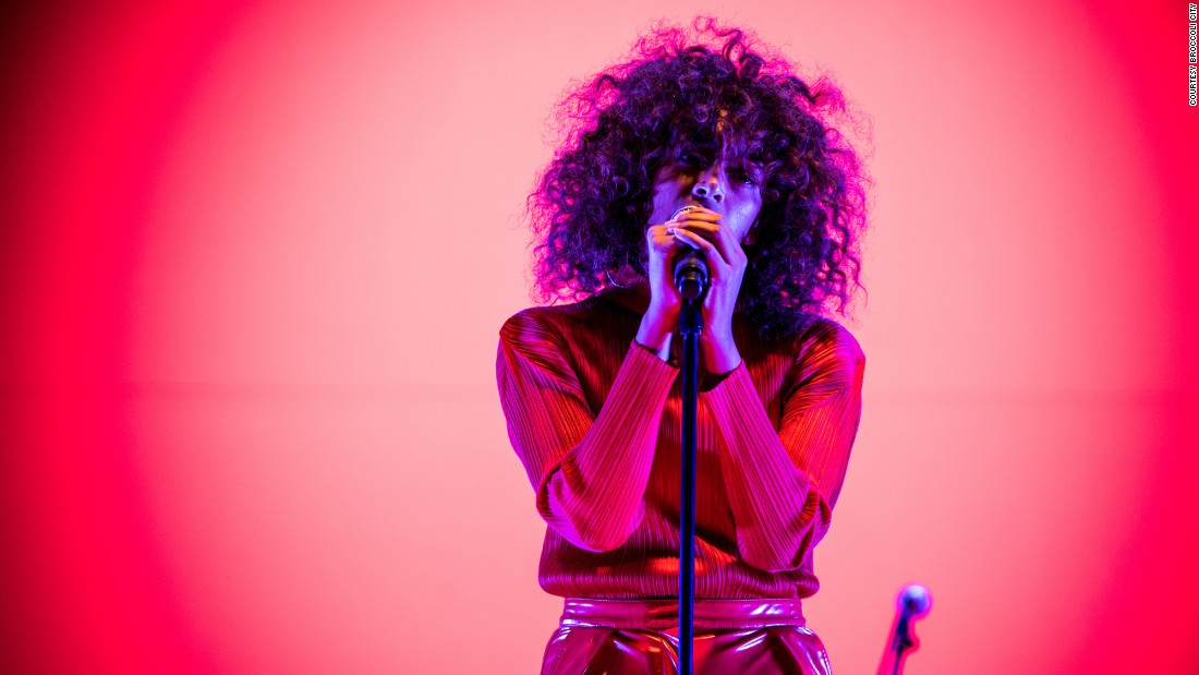 "R&B singer Solange performs songs from her latest album, ""A Seat at the Table,"" including her hit single, ""Cranes in the Sky."" Nearly 10,000 millennials gathered at the 5th annual Broccoli City music festival at Gateway DC in southeast Washington on Saturday, May 6. The green-conscious festival, which promotes healthy living, was headlined by Solange and Rae Sremmurd."